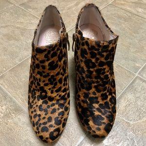 Vince Camuto Vive Calf Hair Bootie Leopard print